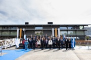 Familie foto tijdens opening Floating Office CGA Rotterdam 2021