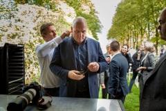 André Kuipers geeft een presentatie op een zakenbijeenkomst Leusden 2018