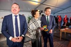 Jeroen Dijselbloem bij eeste munstslag Wageneningen, 2018