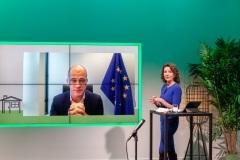 Diederik Samson tijdens een online event, Utrecht 2020
