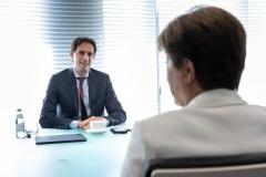 MD IMF Kristalina Georgieva ontmoet minister van financiën Wobke Hoekstra