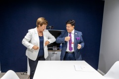 MD IMF Kristalina Georgieva ontmoet minister buitenlandse zaken Bangladesh Ak Abdul Momen
